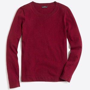 J crew cotton wool teddie sweater burgundy 2018